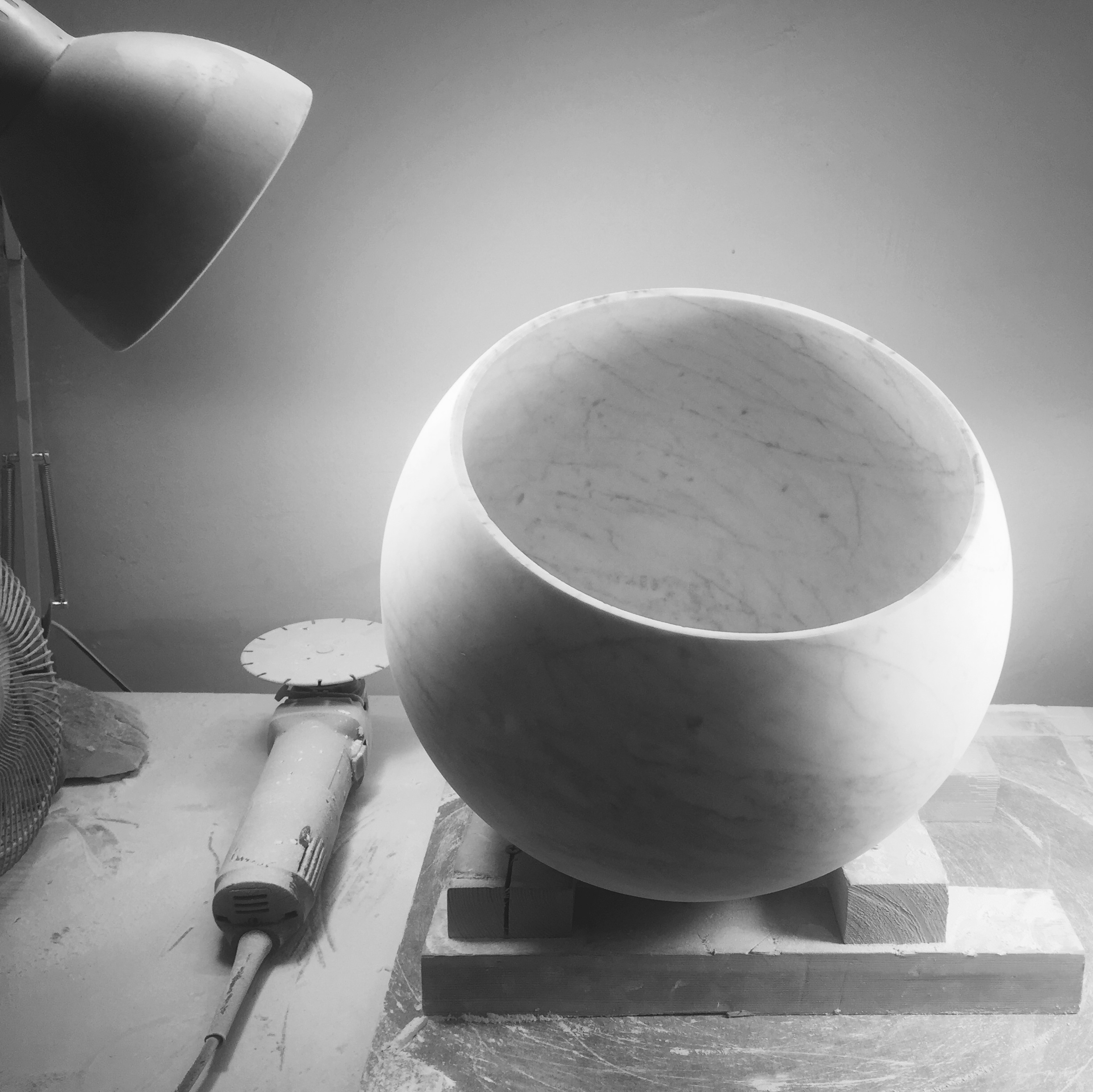 02_Untitled, White Sphere Bowl.
